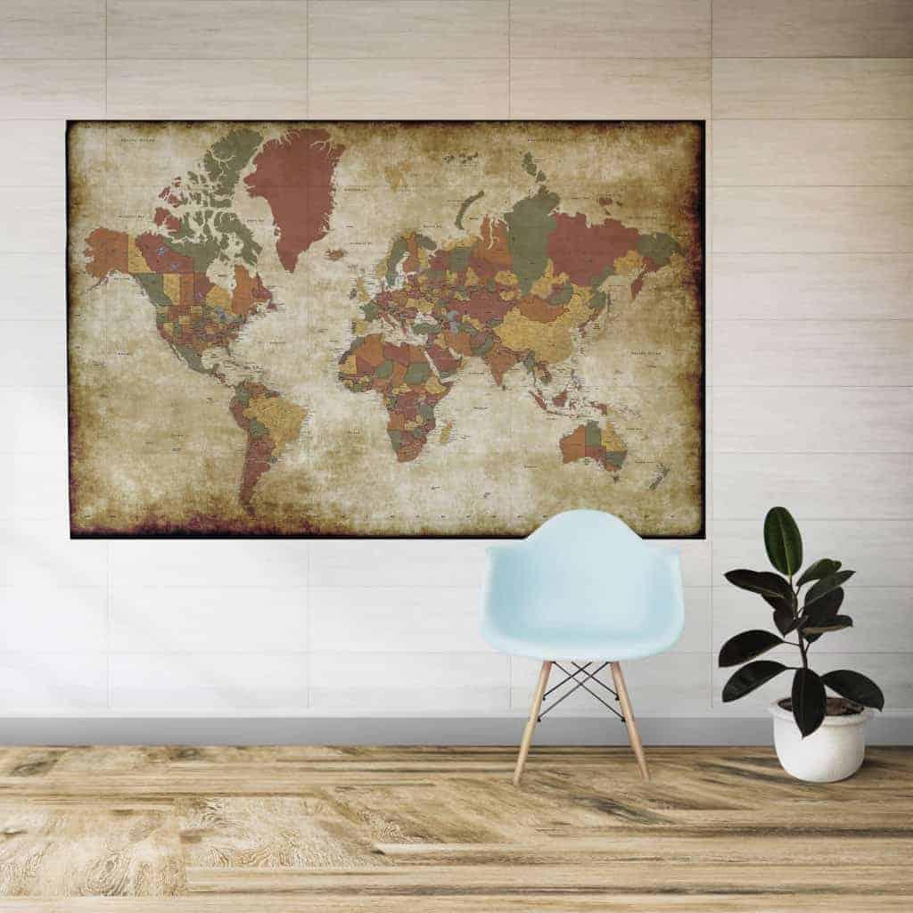 Fabsticker Super Detail World Map